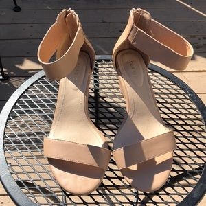 "Torrid ""Nude"" mini wedges"